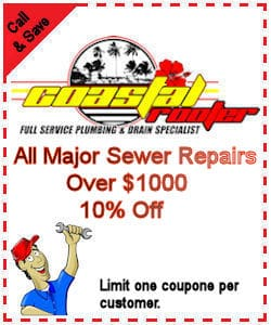 10 percent off all major sewer repairs over 1000
